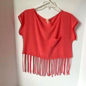 Line up  Crop top with fringe Womens Large